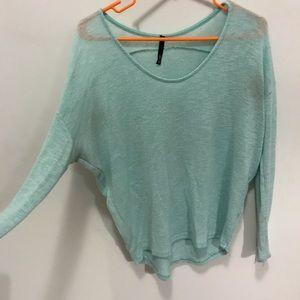 Flowy blue sweater